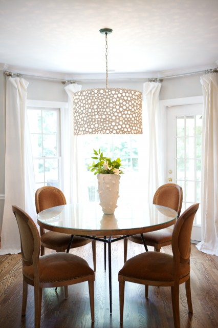 Oly Studio Meri Drum Chandelier Transitional Dining Room Heather Garret