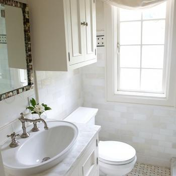 Cabinets over Toilet, Transitional, bathroom, Heather Garrett Design