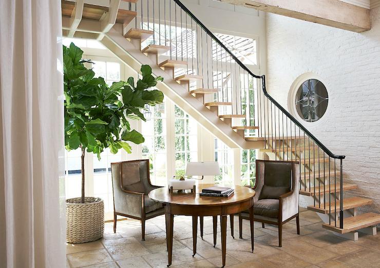 Simply Beautiful House Living Room Fiddle Leaf Fig Tree