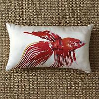 Pillows - Betta Fish Silk Pillow Cover | west elm - betta, fish, pillow