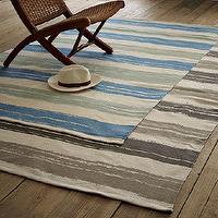 Rugs - Summer Stripe Printed Cotton Rug | west elm - summer stripe, cotton, rug