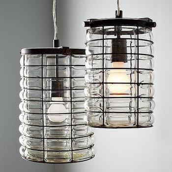 Lighting - Linear Blown Glass Pendant | west elm - linear, blown, glass, pendants