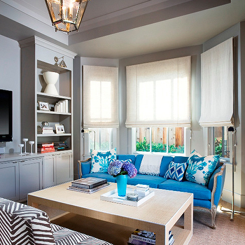 Turquoise Sofa, Eclectic, living room, Martha Angus