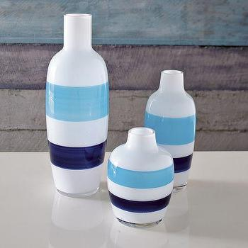 Decor/Accessories - Seaside Vases - Stripe | west elm - seaside, vases, stripe