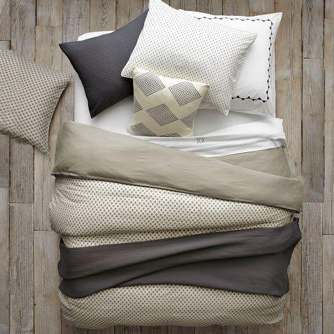 Layered Bed Looks, Neutral Luxe Linen, west elm