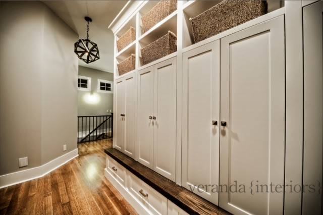 Mudroom Design - Transitional - laundry room - Pratt and Lambert ...