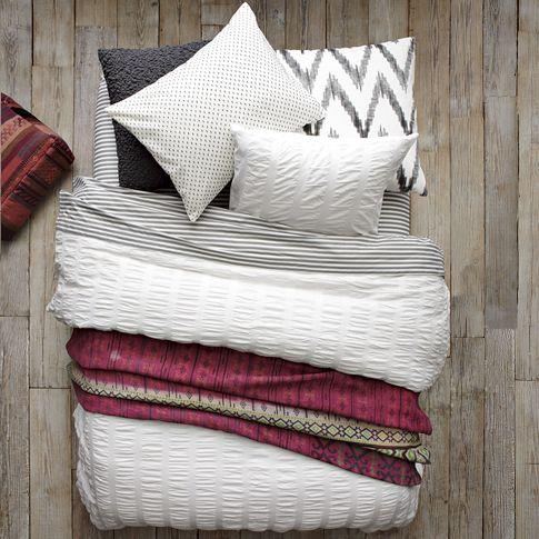 Layered Bed Looks, Bold Graphics, west elm