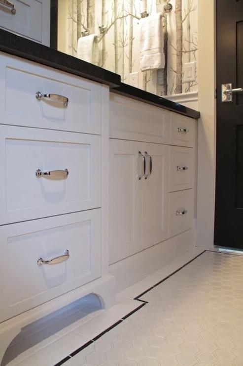 White Hex Floor, Contemporary, bathroom, Veranda Interiors