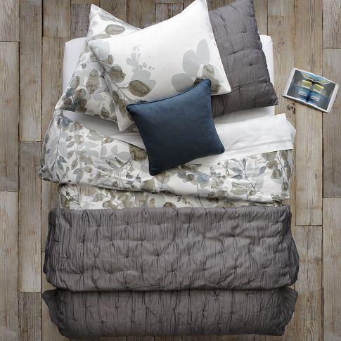 Bedding - Layered Bed Looks - Leafy Layers | west elm - layered bed looks, leafy layers