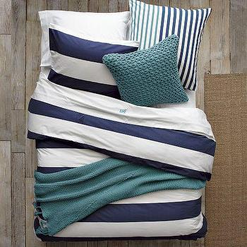 Bedding - Layered Bed Looks - Rest Azure | west elm - layered, bed, looks, rest, azure