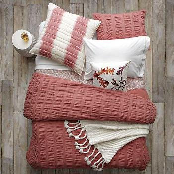 Bedding - Layered Bed Looks - Coral Collection | west elm - layered bed looks, coral