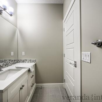 Contemporary Gray Bathroom, Contemporary, bathroom, Veranda Interiors
