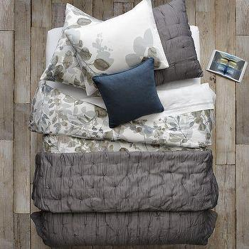Layered Bed Looks, Leafy Layers, west elm