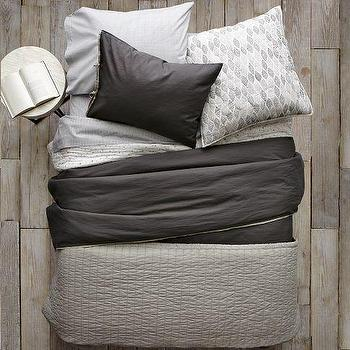 Bedding - Layered Bed Looks - Dark Luxe Linen | west elm - layered bed looks, dark luxe linen