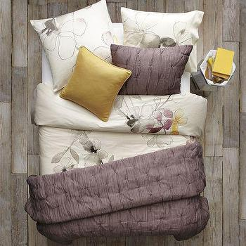 Layered Bed Looks, Flower Bed, west elm
