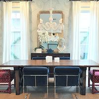 Blue Walls Transitional Dining Room Benjamin Moore