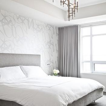 Gray Velvet Curtains, Contemporary, bedroom, Palmerston Design