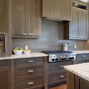 Taupe Kitchen Cabinets, Contemporary, kitchen, Veranda Interiors