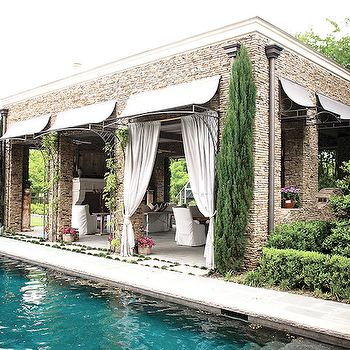 Pool Cabana, Transitional, pool, Aidan Gray Home