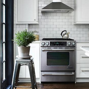 White Subway Tile Backsplash, Transitional, kitchen, Angus Fergusson