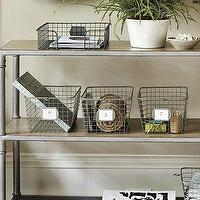 Decor/Accessories - P.E. Collection Gym Baskets | Home Accessories | Ballard Designs - wire, baskets