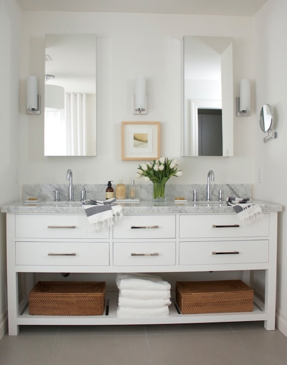Restoration hardware hutton double washstand Restoration hardware bathroom