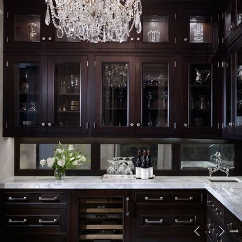 de Giulio Kitchen Design - kitchens - butler's pantry, crystal chandelier, glass-front, espresso, stained, kitchen cabinets, marble, countertops, sink, bridge, faucet, butler's pantry cabinets, butler pantry cabinets, espresso butler's pantry cabinets, espresso butler pantry cabinets, glass front cabinets, glass front butler pantry cabinets, glass front butlers pantry cabinets, espresso cabinets, espresso kitchen cabinets, stained cabinets, stained kitchen cabinets,