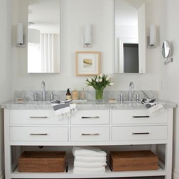 Restoration hardware hutton mirror design decor photos - Restoration hardware bathroom cabinets ...