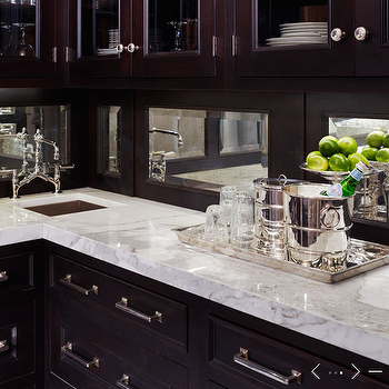 Mirror Backsplash, Traditional, kitchen, de Giulio Kitchen Design
