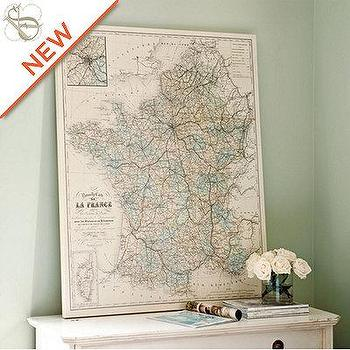 Art/Wall Decor - SK France Map Giclee | European-Inspired Home Decor | Ballard Designs - suzanne kasler, map, giclee, art