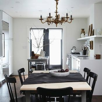 Cameron MacNeil Designer - dining rooms - glossy, black, dining chairs, metal, dining table, oak, wood, top, brass, chandelier, stainless steel, kitchen island, salt dining chairs, salt dining chairs, black dining chairs, black salt chairs, black salt dining chairs,