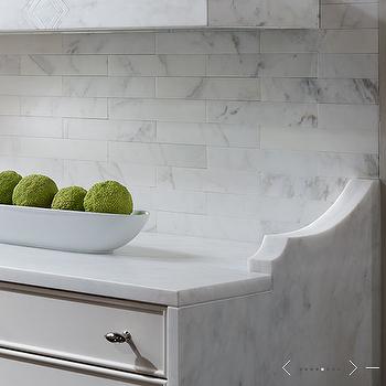Marble Subway Tiled backspalsh, Transitional, kitchen, de Giulio Kitchen Design