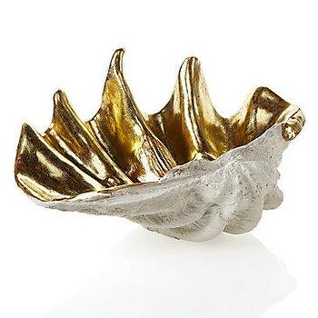 Z Gallerie, Atlantis Clam Shell, Gold