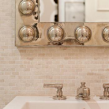 Backsplash design decor photos pictures ideas for Tumbled marble bathroom designs