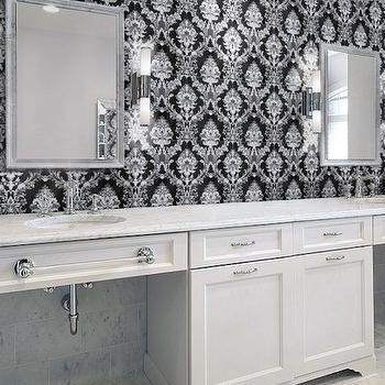 Damask Tiles For Bathroom Transitional Bathroom Artistic Designs For Living