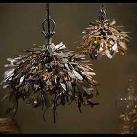 Lighting - Raw Metal Mistletoe Pendant Lamp - raw metal, mistletoe, pendant