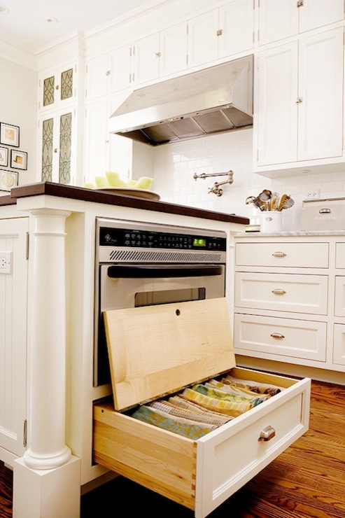 Countertop Microwave In Island : ... island, butcher block, countertop, microwave, kitchen island storage
