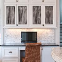 Town & Country Kitchen and Bath - kitchens - crisp, white, shaker, kitchen cabinets, polished, black, granite, countertops, marble slab, backsplash, kitchen office, kitchen desk,