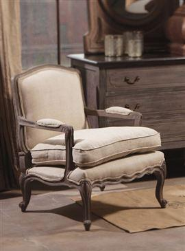 Seating - Wood Louis Armchair - armchair, upholstered