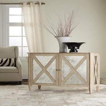 Storage Furniture - Mirrored Two Door Cabinet - mirrored, 2 door, cabinet