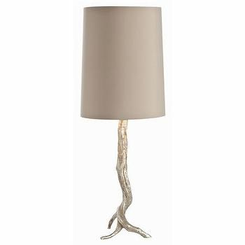 Lighting - Adler Silver Leaf Iron Lamp NEW - adler, silver, leaf, lamp