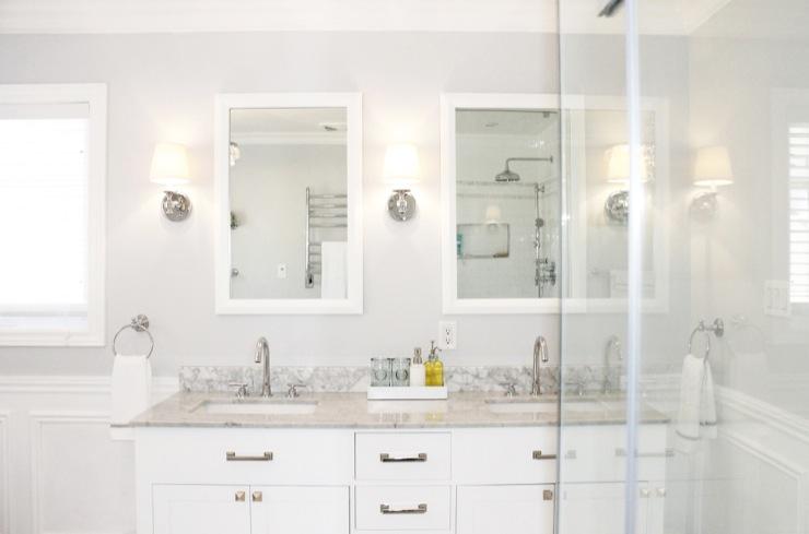 Gray Bathroom Paint Colors Transitional Bathroom