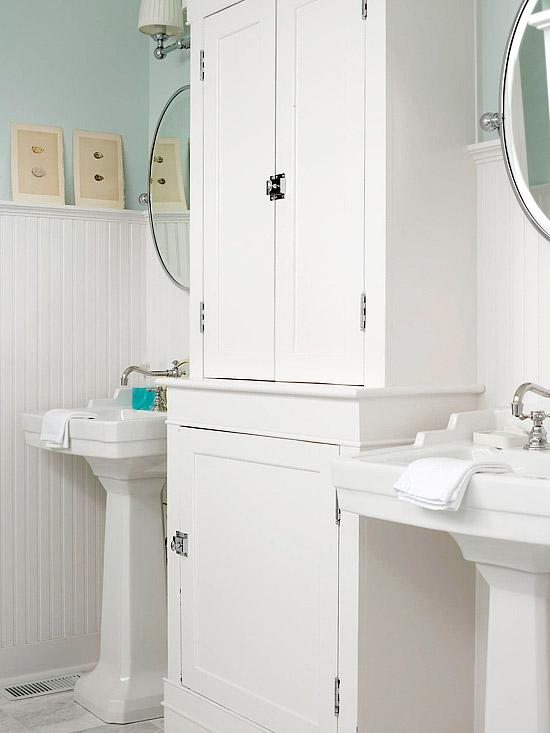 Beadboard Bathroom Cottage Bathroom BHG