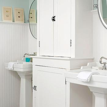 Beadboard Bathroom, Cottage, bathroom, BHG