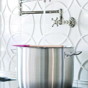 Geometric Kitchen Backsplash, Contemporary, kitchen, BHG