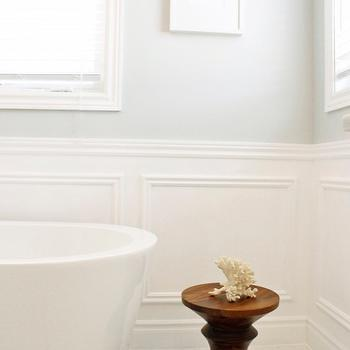 Bathroom Wainscoting, Transitional, bathroom, Valspar Polar Star, AM Dolce Vita