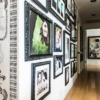 Janet Rice Interiors - entrances/foyers - photo gallery, black, frames,  Eclectic hall photo gallery