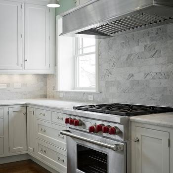 Carrara Backsplash, Transitional, kitchen, Cameo Homes