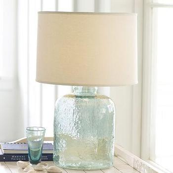 Lighting - Devin Glass Table Lamp Base | Pottery Barn - devin, glass, lamp