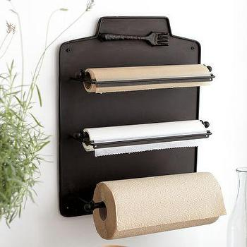 Decor/Accessories - Cucina Wall-Mount Kitchen Roll Organizer | Pottery Barn - cucina, wall mount, kitchen roll, organizer